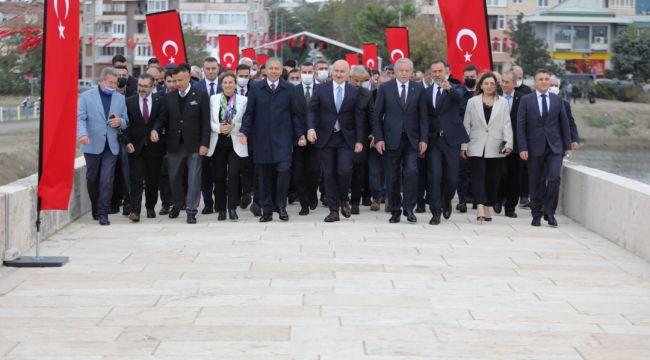 Tarihi Mimar Sinan ve Kısa Köprü açıldı