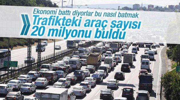 İşte Türkiye'deki araç sayısı