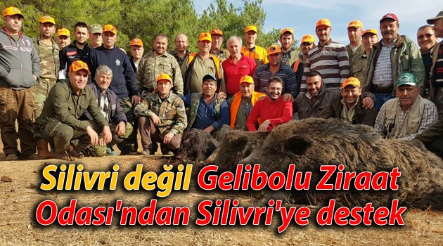 Gelibolu'dan Silivri'ye destek
