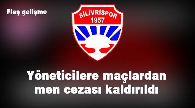 Silivrispor'da maçlardan men cezası kaldırıldı