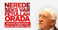 Ahmet Hakan, Gülen-seks ilişkisini yazdı