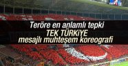 Galatasaraylı taraftarlardan anlamlı koreografi