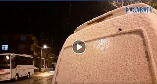 Silivri Kadıköy'e ilk kar düştü