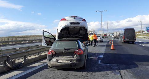 Silivri'de ilginç kaza: 1 yaralı